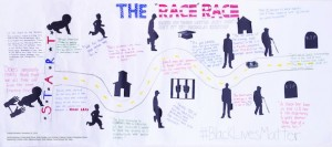 The 'Race' Race mural, inspired by New York Times columns